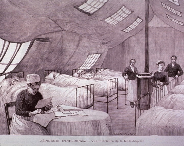 1890 Influenza cartoon (Source: National Library of Medicine)