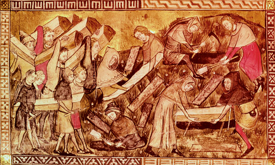 Black Death at Tourinai, 1349